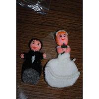 Вязаная Свадебная пара на счастье для Молодожёнов либо, как подарок-намёк к празднику Всех Влюблённых.