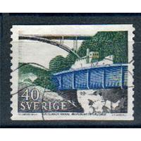 Швеция 1968 Mi#599Dl, Корабли Канал Мосты.
