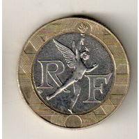 Франция 10 франк 1991