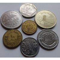 Сирия 5, 10, 25, 50 пиастров 1, 5, 10 фунтов, набор из 7 монет