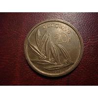 20 франков 1980 года Бельгия