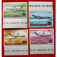 Бурунди. Самолёты. ( 4 марки ) 1967 года.