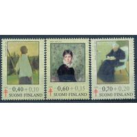 Финляндия 1975 Искусство Живопись Женщины Медицина Туберкулез. Полная серия. ** 2,5 евро