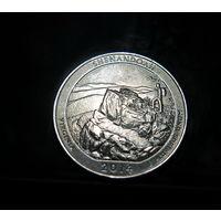 США 25 центов (квотер) Вирджиния, Шенандоа 2014