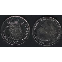 Нидерланды km200 1 гульден 1980 год (Коронация королевы Беатрис) km200 Ni (f38)