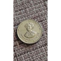 Таиланд 2 бат 1990 г 90 летие королевы