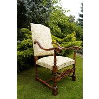 Антикварное Кресло - Трон Гобелен. Европа