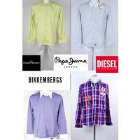 РАСПРОДАЖА, СКИДКА 40 %!!! Стильные рубашки брендов DIRK BIKKEMBERGS, DIESEL, PEPE JEANS, 100 % оригинальные