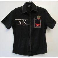 ARMANI Рубашка Армани оригинал фирменный логотип вышивка прострочки нашивка Стрейч Винтаж