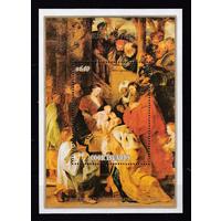 Кука о-ва, 1989, Искусство, Живопись, Рождество Рубенс, Блок, MNH**