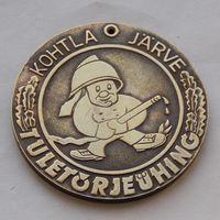 Эстонская медаль за III место в соревнованиях пожарных команд