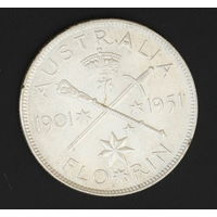 Австралия юбилейный флорин 1951