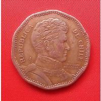 66-10 Чили, 50 песо 1993 г. Единственное предложение монеты данного года на АУ
