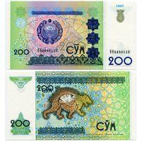 Узбекистан. 200 сум (образца 1997 года, P80, UNC) [серия BH]