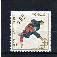 Монако.Спорт.Дзю-до.Олимпийские игры.Токио.1964.