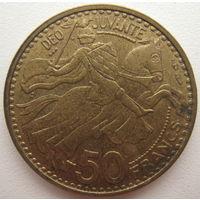 Монако 50 франков 1950 г.