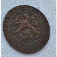 """Нидерландские Антильские острова 2,5 цента, 1965 Метки """"Рыба"""" и """"Звезда"""" после даты  8-4-24"""