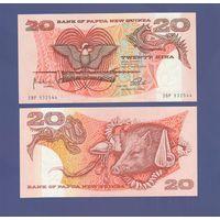 Банкнота Папуа Новая Гвинея 20 кина не датирована (1981-85) UNC ПРЕСС префикс SBР