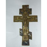 Крест старинный 19 век,остатки эмали.