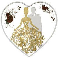 "Токелау 1 доллар 2018г. Сердце: ""Жених и невеста"". Монета в капсуле; подарочном футляре; сертификат; коробка. СЕРЕБРО 20гр."