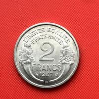 52-07 Франция, 2 франка 1947 г. (B - Бомон-ле-Роже) в сохране