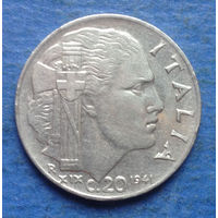 Италия 20 чентезимо 1941 магнитная