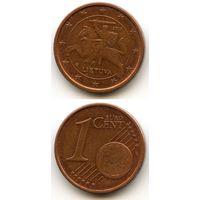 Литва 1 евроцент 2015 г.