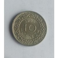 Суринам 10 центов 1966