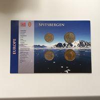 RARE ММД Шпицберген Арктикуголь набор монет 10 25 50 и 100 рублей 1993 год UNC Uncirculated