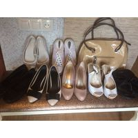 205 рублей за 9 пар обуви на 38,5 размер и сумку.