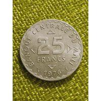 Мали 25 франков 1976  г ФАО