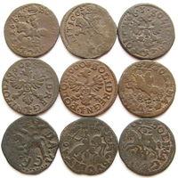 Кучка интересных баратинок: с точками в дате, перечекан буквы монетного двора, двойной удар, фальшаки