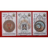 Чехословакия. Часы. ( 3 марки ) 1978 года.